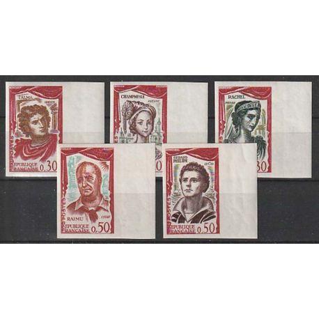 Timbre collection France N° Yvert et Tellier 1301/1305 Neuf sans charnière