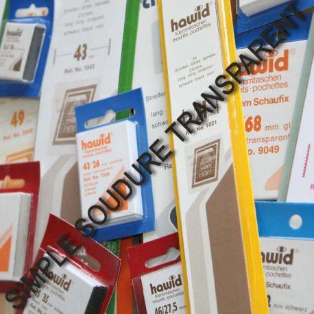 50 pochettes Hawid transparente simple soudure formats courants Nombreux formats disponibles à partir de 3,00 €