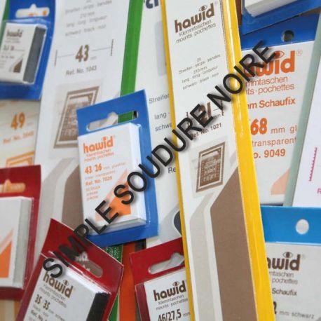 25 bandes Hawid de 210 mm noire simple soudure Nombreux formats disponibles à partir de 7,50 €