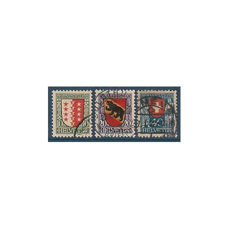 Timbre collection Suisse N° Yvert et Tellier 185/187 Oblitéré