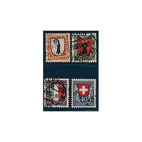 Timbre collection Suisse N° Yvert et Tellier 192/195 Oblitéré