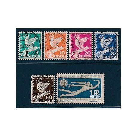Timbre collection Suisse N° Yvert et Tellier 224/259 Oblitéré