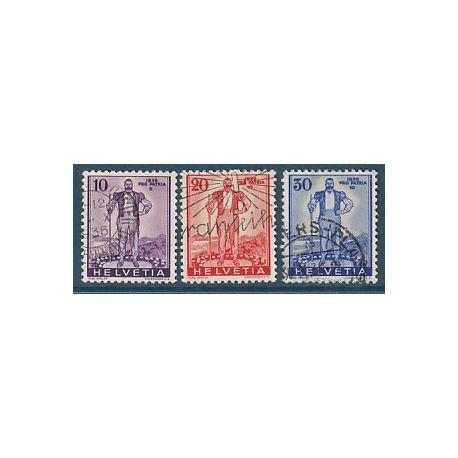 Timbre collection Suisse N° Yvert et Tellier 286/288 Oblitéré