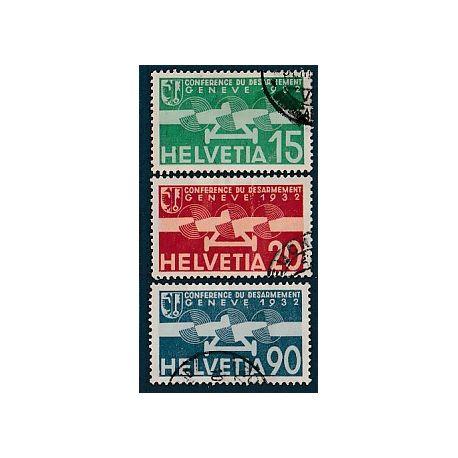 Timbre collection Suisse N° Yvert et Tellier PA 16/18 Oblitéré