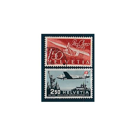 Timbre collection Suisse N° Yvert et Tellier PA 40/41 Oblitéré