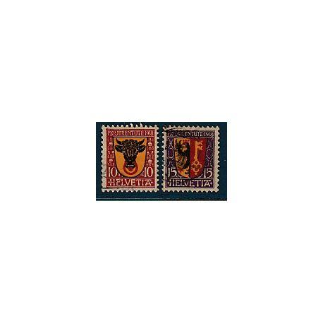 Timbre collection Suisse N° Yvert et Tellier 168 et 169 Oblitéré