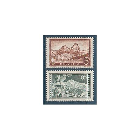 Timbre collection Suisse N° Yvert et Tellier 244/245 Neuf avec charnière