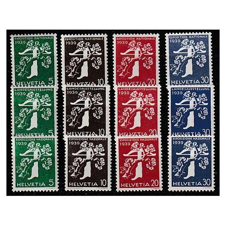 Timbre collection Suisse N° Yvert et Tellier 329/340 Neuf sans charnière