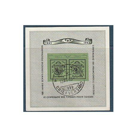 Timbre collection Suisse N° Yvert et Tellier BF 10 Oblitéré