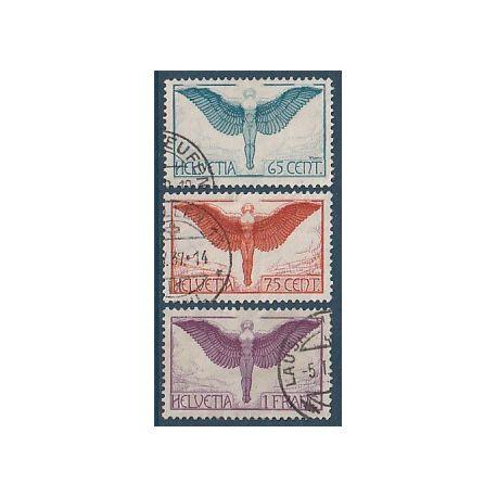 Timbre collection Suisse N° Yvert et Tellier PA 10/12 Oblitéré