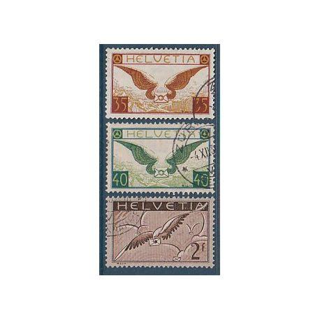 Timbre collection Suisse N° Yvert et Tellier PA 13/15 Oblitéré