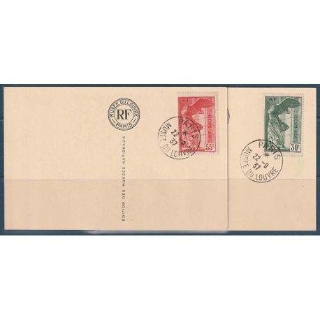 Timbre collection France N° Yvert et Tellier 354/355 Oblitéré