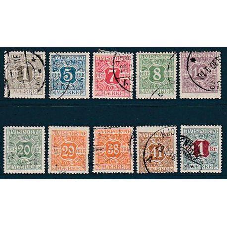 Timbre collection Danemark N° Yvert et Tellier 11/20 Oblitéré