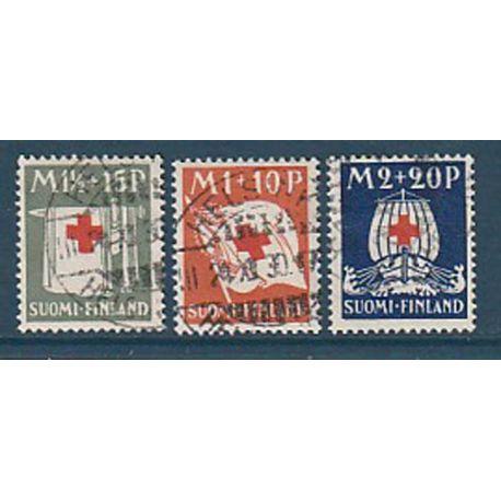 Timbre collection Finlande N° Yvert et Tellier 156/158 Oblitéré