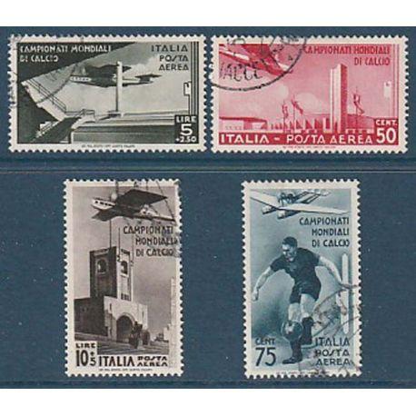 Timbre collection Italie N° Yvert et Tellier PA 64/67 Oblitéré