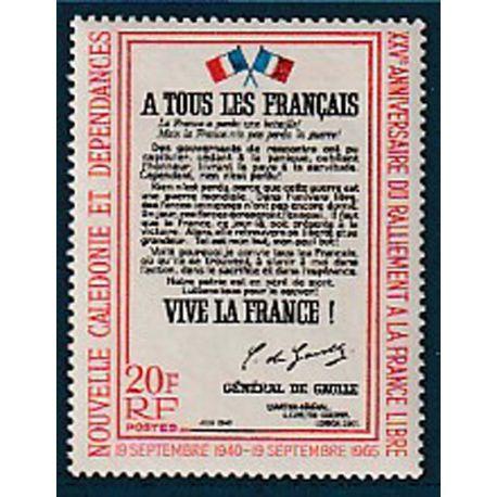 Timbre collection Nouvelle Calédonie N° Yvert et Tellier 326 Neuf sans charnière