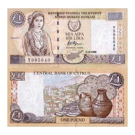 Billets de banque Chypre Pk N° 60 - 1 Pound