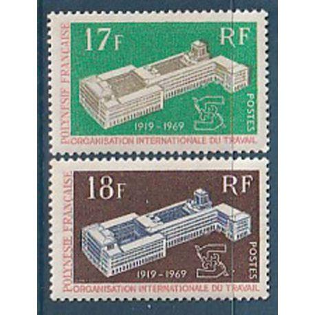 Timbre collection Polynésie N° Yvert et Tellier 70/71 Neuf sans charnière