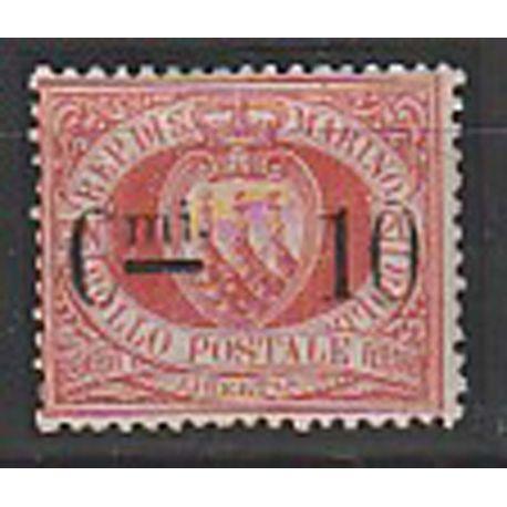 Timbre collection Saint Marin N° Yvert et Tellier 10 Neuf avec charnière