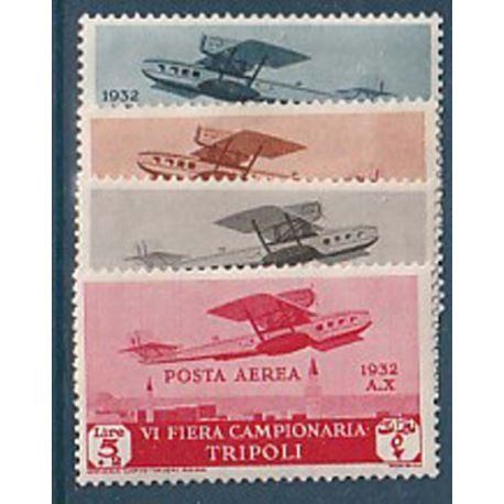 Timbre collection Tripolitaine N° Yvert et Tellier Pa 21/24 Neuf avec charnière