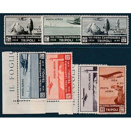 Timbre collection Tripolitaine N° Yvert et Tellier PA 43/49 Neuf sans charnière