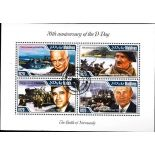 Bloc de 4 timbres D-Day