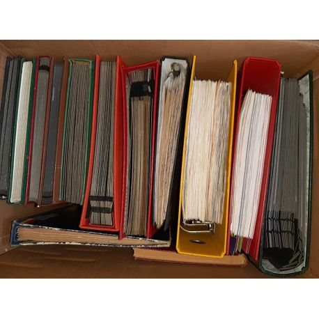 Timbres oblitérés et neufs du monde en 14 volumes