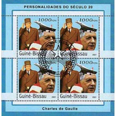 Bloc de 4 timbres De Gaulle