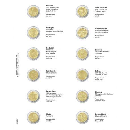 Blatt für GedächtnisMünzen 2 €: Januar 2017 bis Juli 2017