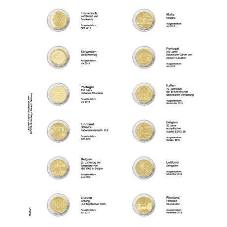 Hoja para monedas 2 € conmemorativas: Enero de 2017-Julio de 2017