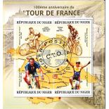 Bloc de 4 timbres Tour de France