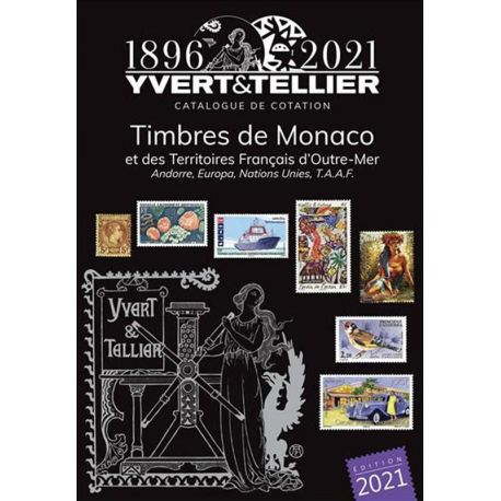Catalogue Monaco et TOM Yvert et Tellier 2021