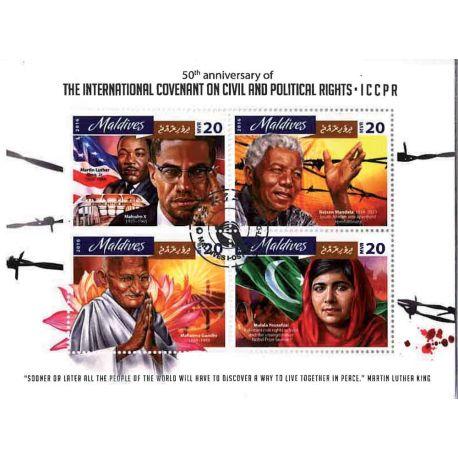 Bloc de 4 timbres Droits civiques et politiques
