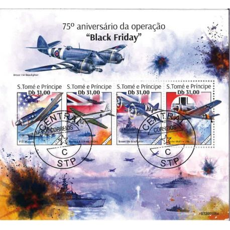 Bloc de 4 timbres Black Friday