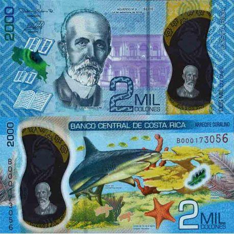 Billet de banque collection Costa Rica - PK N° 999 - 2 000 Colones