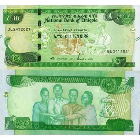 Billet de banque collection Ethiopie - PK N° 999 - 10 Birr