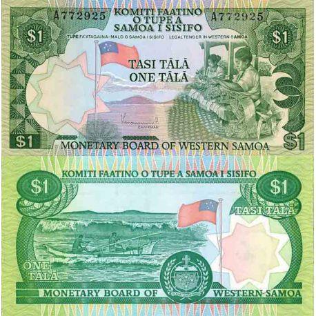 Billet de banque collection Samoa - PK N° 19 - 1 Tala