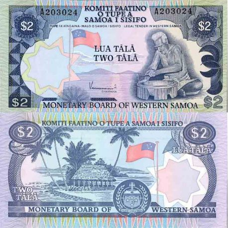 Billet de banque collection Samoa - PK N° 20 - 2 Tala