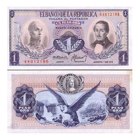 Billets de collection Billets collection Colombie Pk N° 404 - 1 Pesos Billets de Colombie 5,50 €