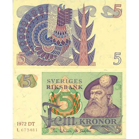 Billet de banque collection Suède - PK N° 51 - 5 Kronor