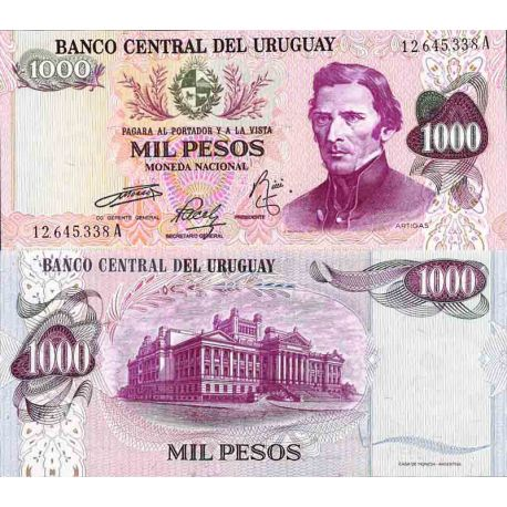 Billet de banque collection Uruguay - PK N° 52 - 1 000 Pesos