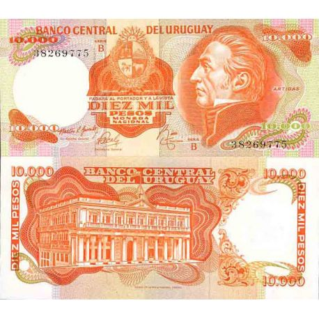 Billet de banque collection Uruguay - PK N° 53 - 10 000 Pesos