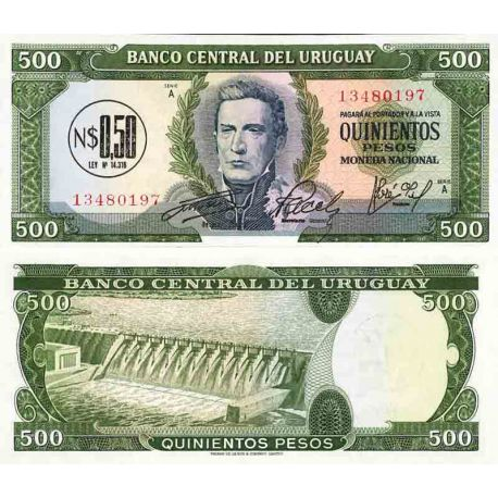 Billet de banque collection Uruguay - PK N° 54 - 500 Pesos