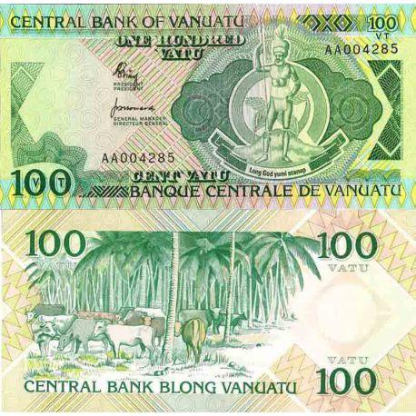 Billet de banque collection Vanuatu - PK N° 1 - 100 Vatu