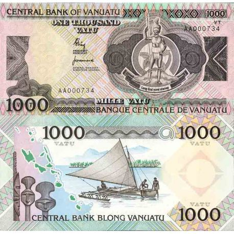 Billets de collection Billet de banque collection Vanuatu - PK N° 3 - 1 000 Vatu Billets du Vanuatu 62,00 €