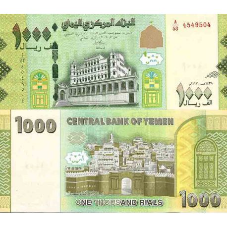 Billets de collection Billet de banque collection Yémen - PK N° 40 - 1 000 Rials Billets du Yemen 12,00 €