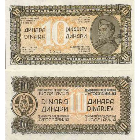 Billet de banque collection Yougoslavie - PK N° 50 - 10 Dinara