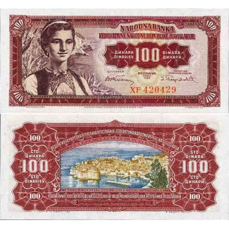 Billet de banque collection Yougoslavie - PK N° 69 - 100 Dinara