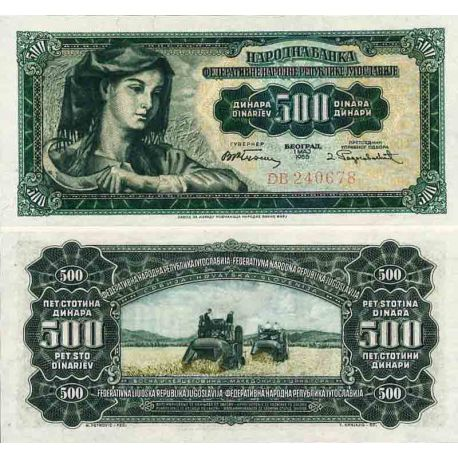 Billet de banque collection Yougoslavie - PK N° 70 - 500 Dinara