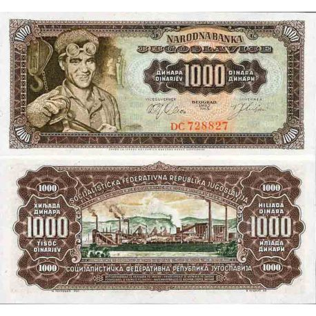 Billet de banque collection Yougoslavie - PK N° 75 - 1 000 Dinara